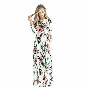 Floral Printed Long Maxi Dress